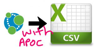 Export CSV from Neo4j with APOC